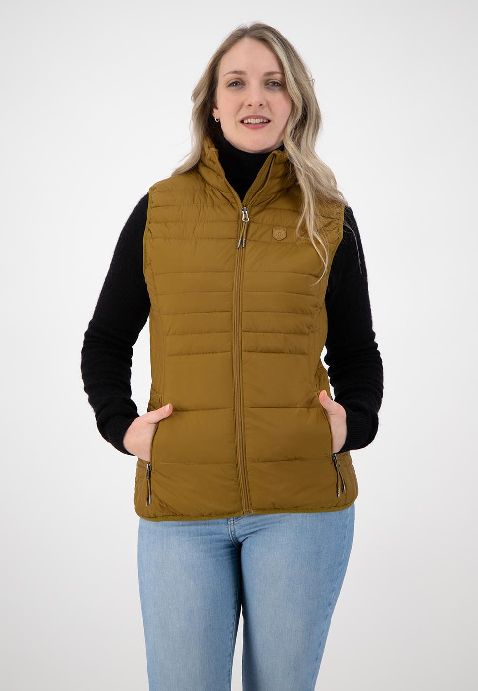 Kjelvik Scandinavian Clothing - Women Bodywarmers Denise Golden yellow