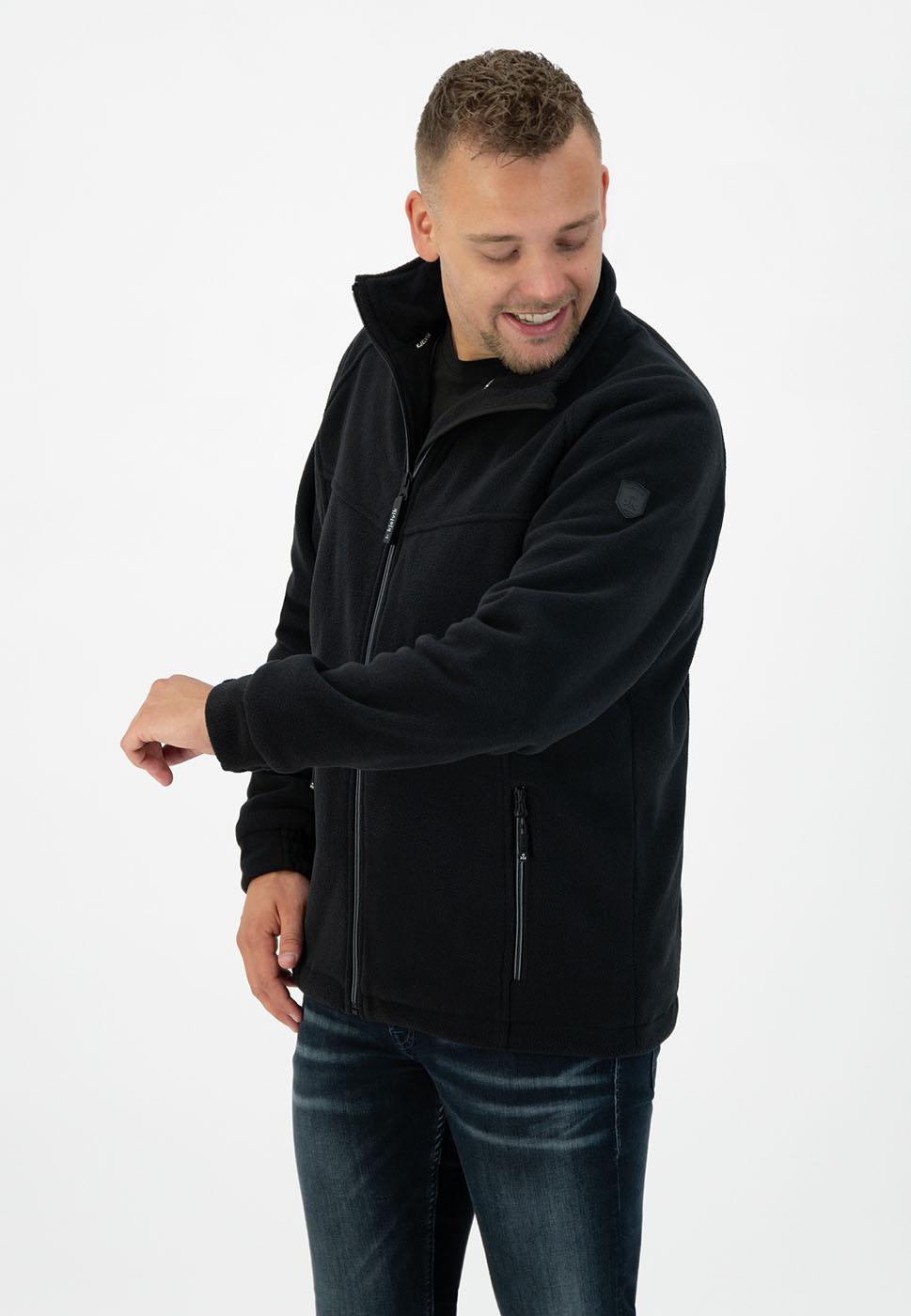 Kjelvik Scandinavian Clothing - Men Polarfleece Fjord Black
