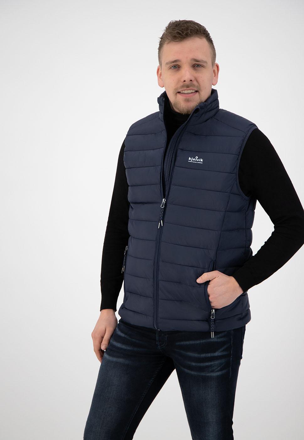 Kjelvik Scandinavian Clothing - Men Bodywarmers Haldor Navy