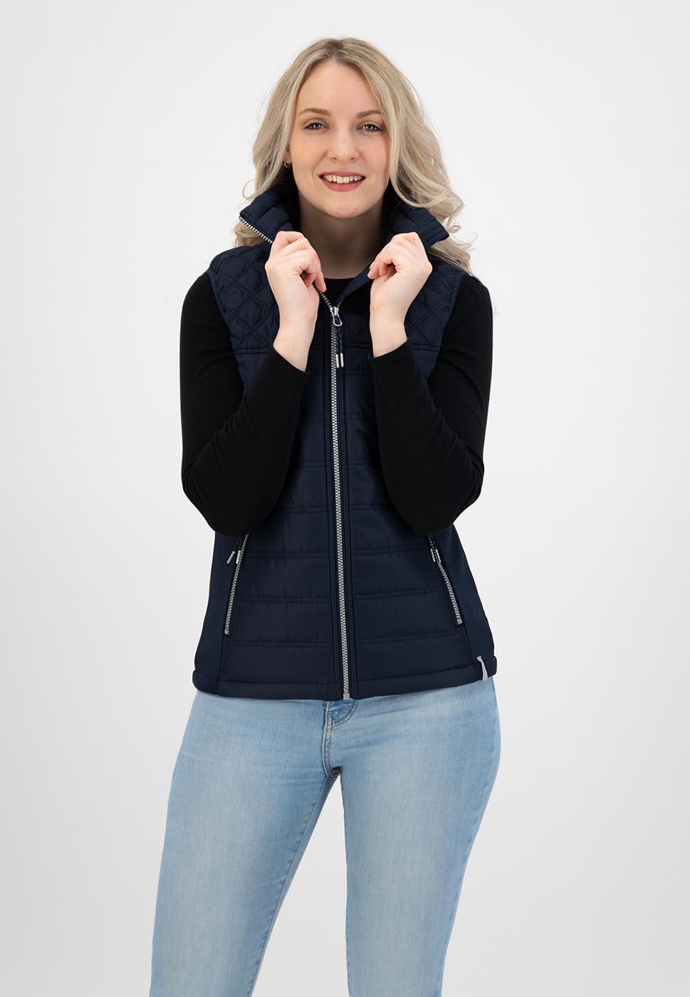 Kjelvik Scandinavian Clothing - Women Bodywarmers Patricia Navy