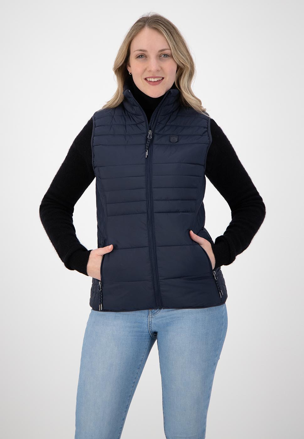 Kjelvik Scandinavian Clothing - Women Bodywarmers Denise Navy