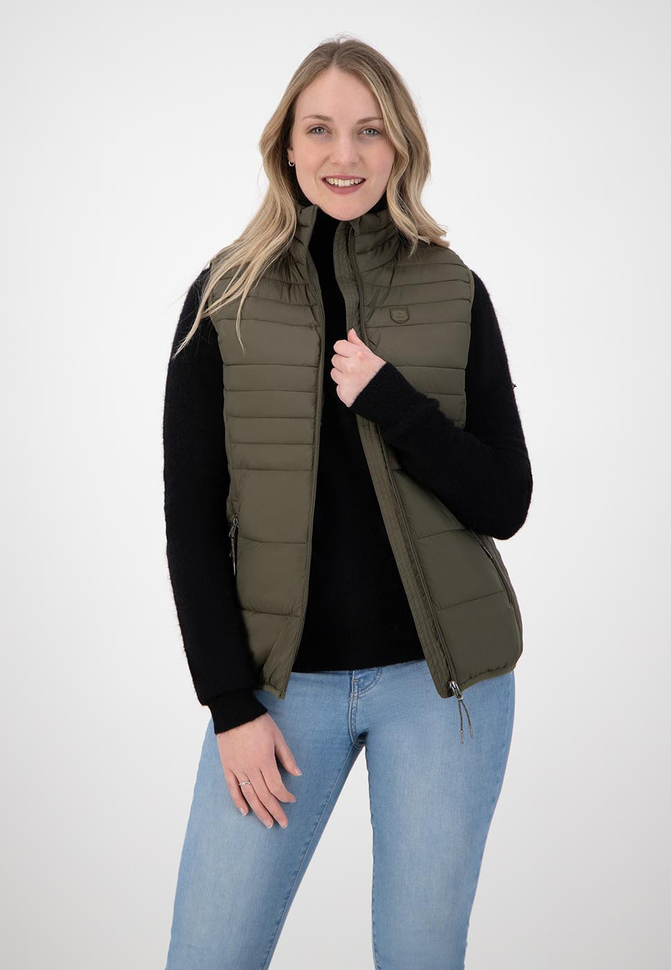 Kjelvik Scandinavian Clothing - Women Bodywarmers Denise Olive