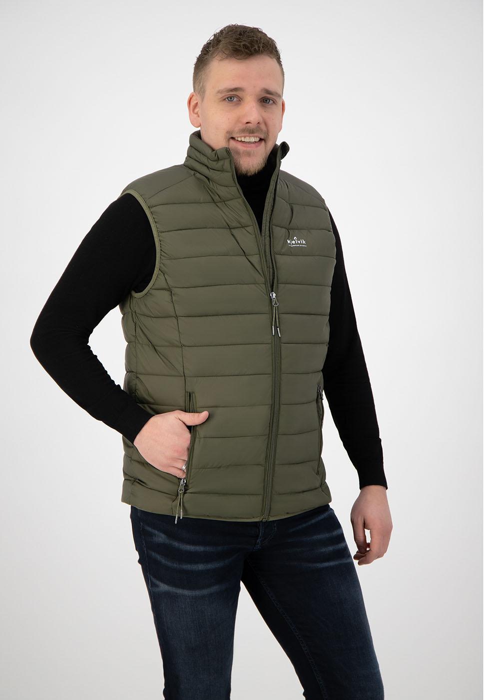 Kjelvik Scandinavian Clothing - Men Bodywarmers Haldor Olive