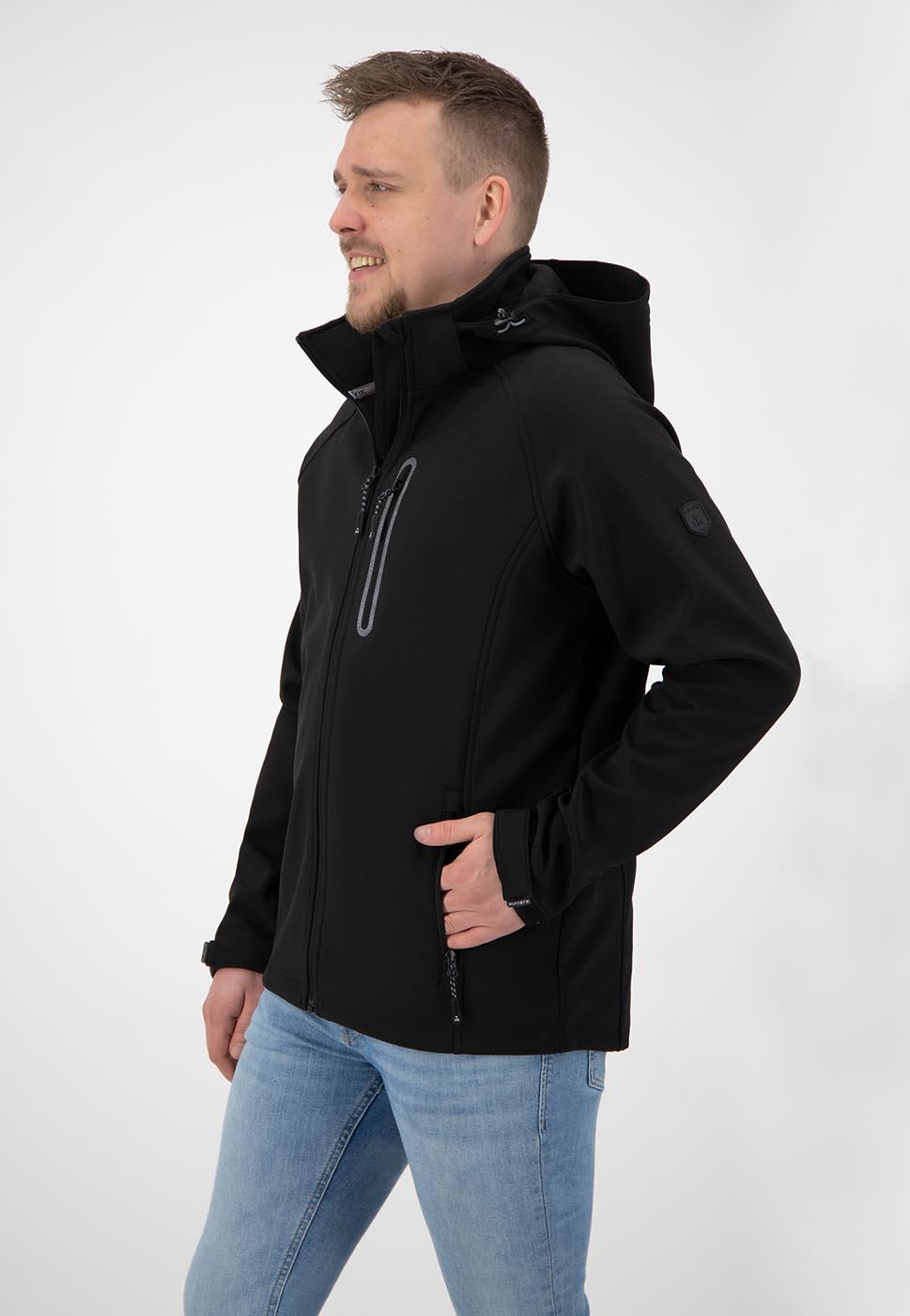 Kjelvik Scandinavian Clothing - Men Softshell Kevan Black