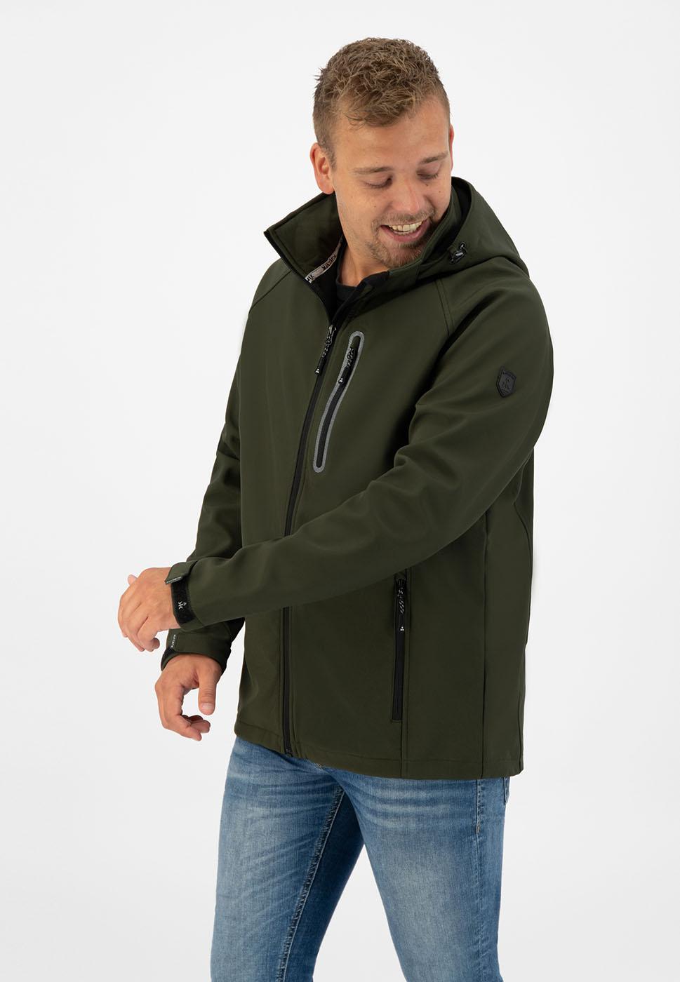 Kjelvik Scandinavian Clothing - Men Softshell Kevan Green