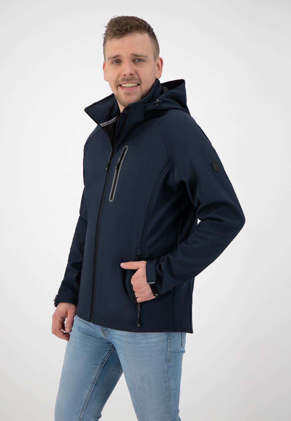 Kjelvik Scandinavian Clothing - Men Softshell Kevan Navy